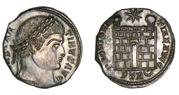 piece de monnaie romaine en bronze